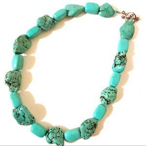 Genuine Turquoise Handmade Necklace